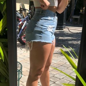 Pants - Denim High Waist shorts